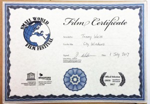 Certificado Small World Film Festival